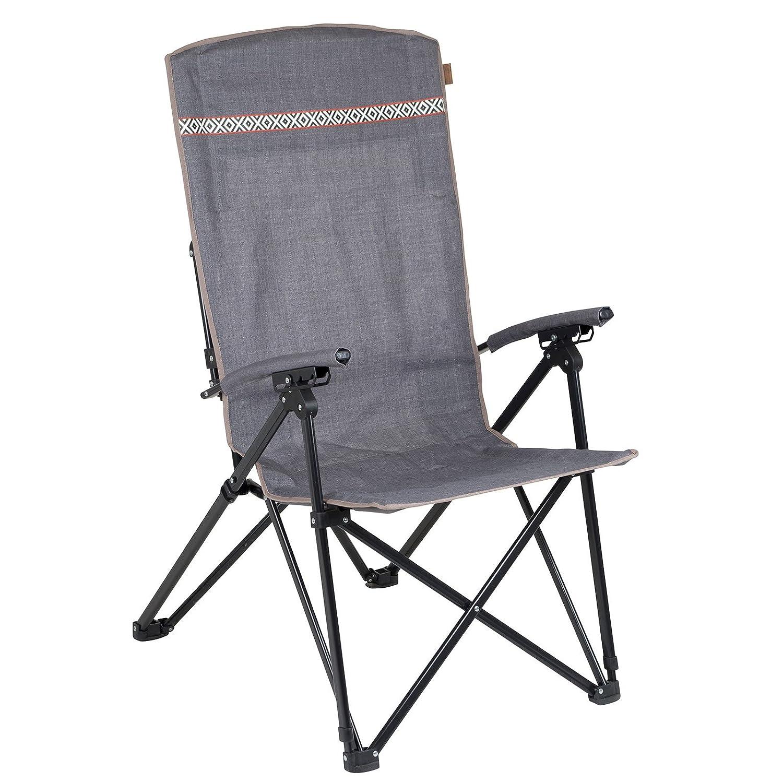 BO-Camp Faltsstuhl Dalston Camping Stuhl Strandstuhl Garten Sessel Klappstuhl 4 Sitzpositionen