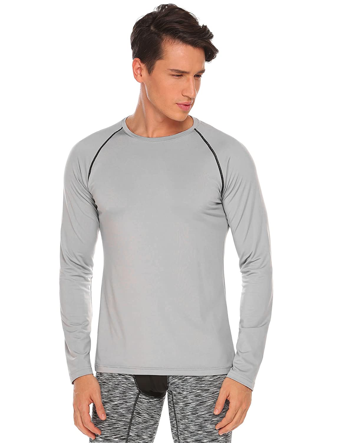 7074ce3ca Amazon.com: COOFANDY Mens Long Sleeve Lace up Cotton T Shirts Casual Tops  Tee Classic Fit Basic Shirts: Clothing