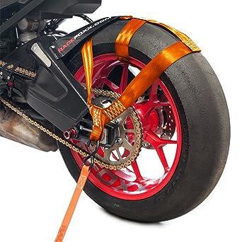 Vientos Racefoxx para la rueda trasera de motocicletas, para un transporte seguro