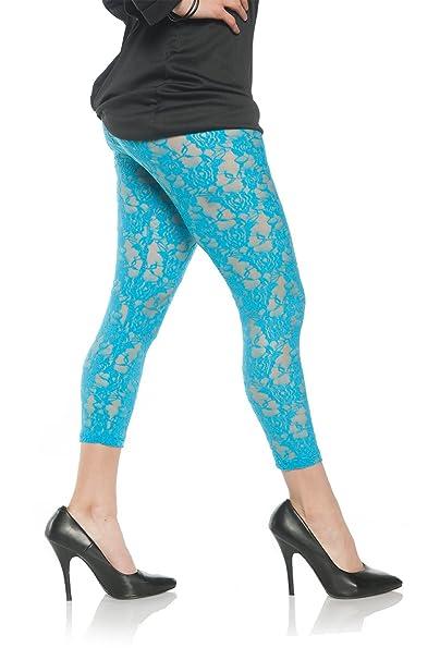 99cfceed19537 Women's Retro 80's Lace Leggings at Amazon Women's Clothing store: