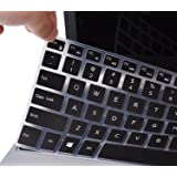 """CaseBuy Keyboard Cover Protector Skin for 15.6"""" DELL XPS 15-9550 15-9560, DELL Precision 15-5510 M5510 US Layout(NOT fit DELL XPS 15 9575), Black"""