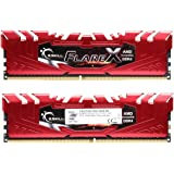 G.SKILL F4-2133C15D-16GFXR 16 GB (8 GB x 2) Flare X Series DDR4 2133 MHz PC4-17000 CL15 Dual Channel Memory Kit - Red