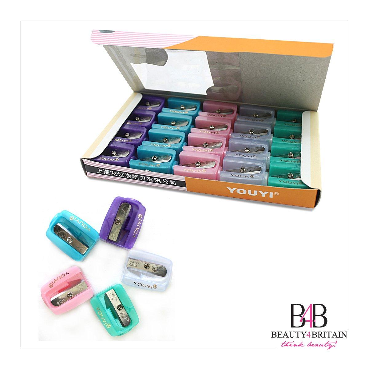 20 x Pencil Sharpeners Single Hole Make Up Cosmetic Wholesale UK Youyi