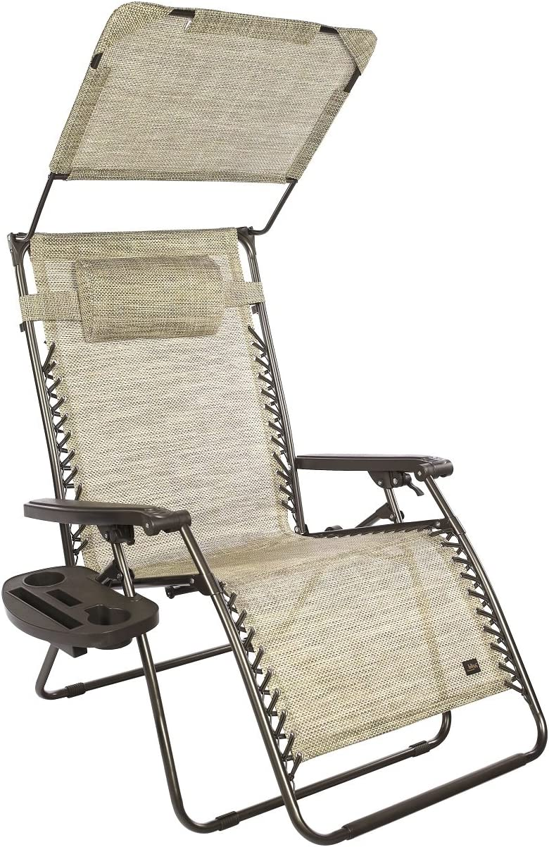 "Bliss Hammocks 33"" Width XXL Anti Gravity Recliner With Canopy - Sand"
