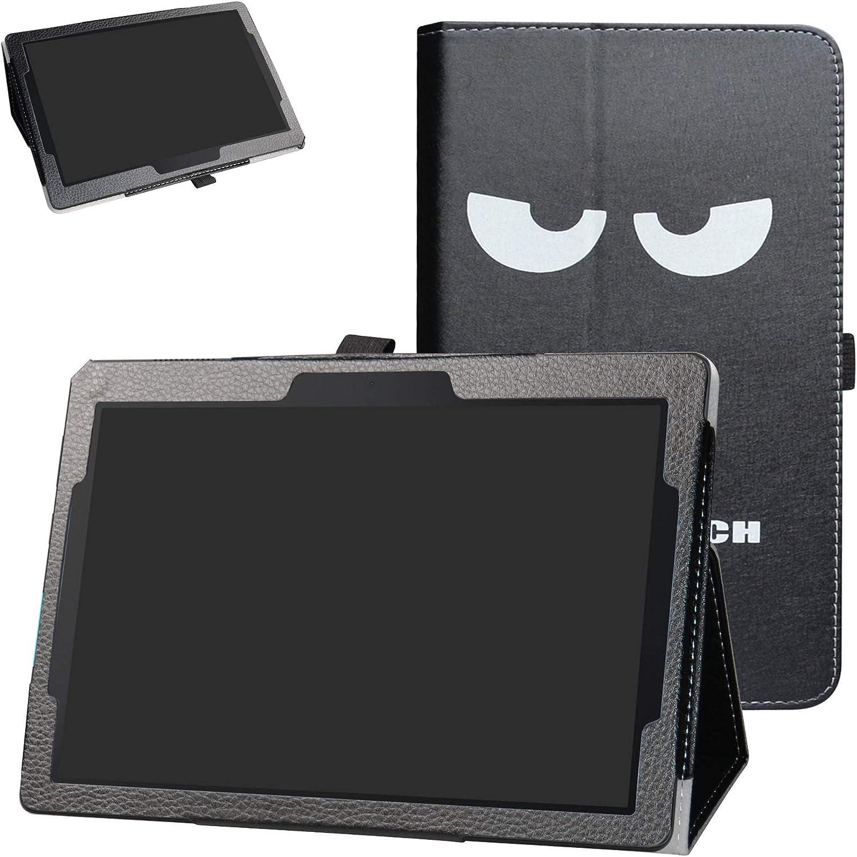 "Lenovo Tab E10 2018 Case,Bige PU Leather Folio 2-Folding Stand Cover for 10.1"" Lenovo Tab E10 TB-X104F Tablet(2018),Don't Touch"