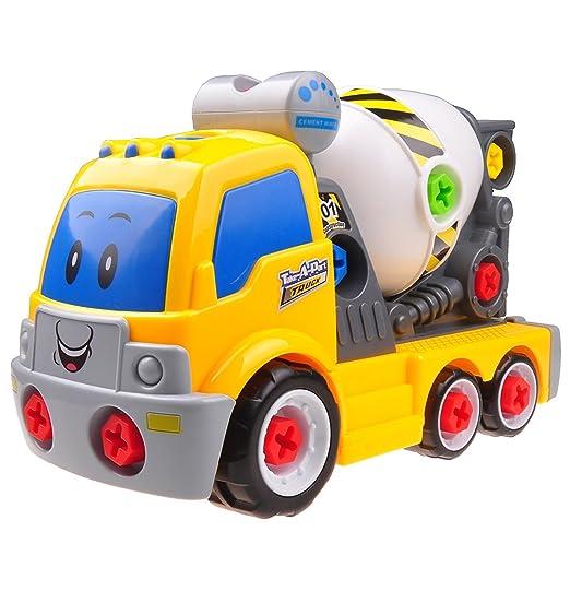 Think Gizmos Juguete Desmontable para los Niños - Construye tu Propio Kit de Juguete para niños y niñas de 3 4 5 6 7 8 + (Mezcladora de Cemento)