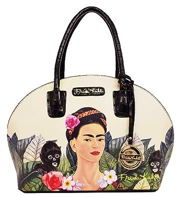 Frida Kahlo Jungle Series Frame Dome Satchel (BLACK): Handbags ...