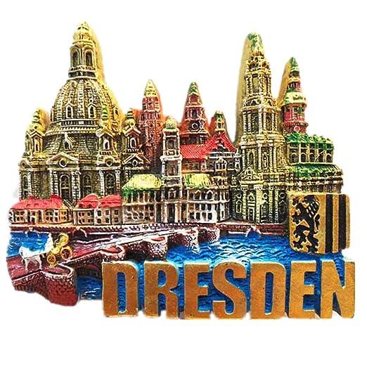 MUYU Magnet 3D Dresden Alemania Souvenir imán de Nevera hogar y ...