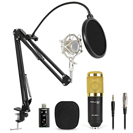 Professional BM-800 Studio Condenser Microphone Kit for Broadcasting and  Sound Recording (Black-Update)