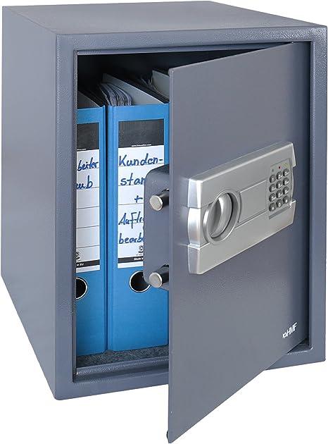 Hmf 4612812 Tresor Möbeltresor A4 Ordner Elektronikschloss 36 0 X 48 0 X 37 0 Cm Anthrazit Baumarkt
