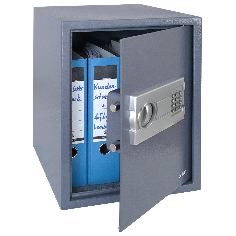 HMF 4612812 Coffre-Fort avec Serrure É lectronique, Safe, pour les Fichiers A4, 36 x 48 x 37 cm, anthracite