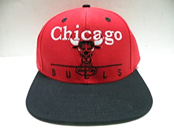 41a2d6898952b Amazon.com   NBA Chicago Bulls Block Script Red 2 Tone Retro ...