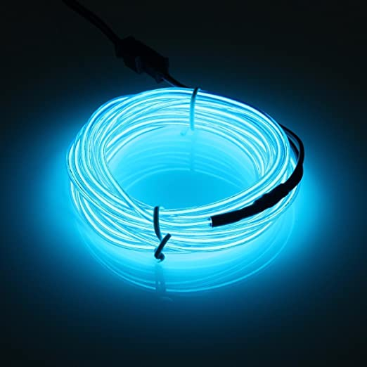 EL Wire, POSSBAY 1M Blue Neon Light Glowing Bright LED Light