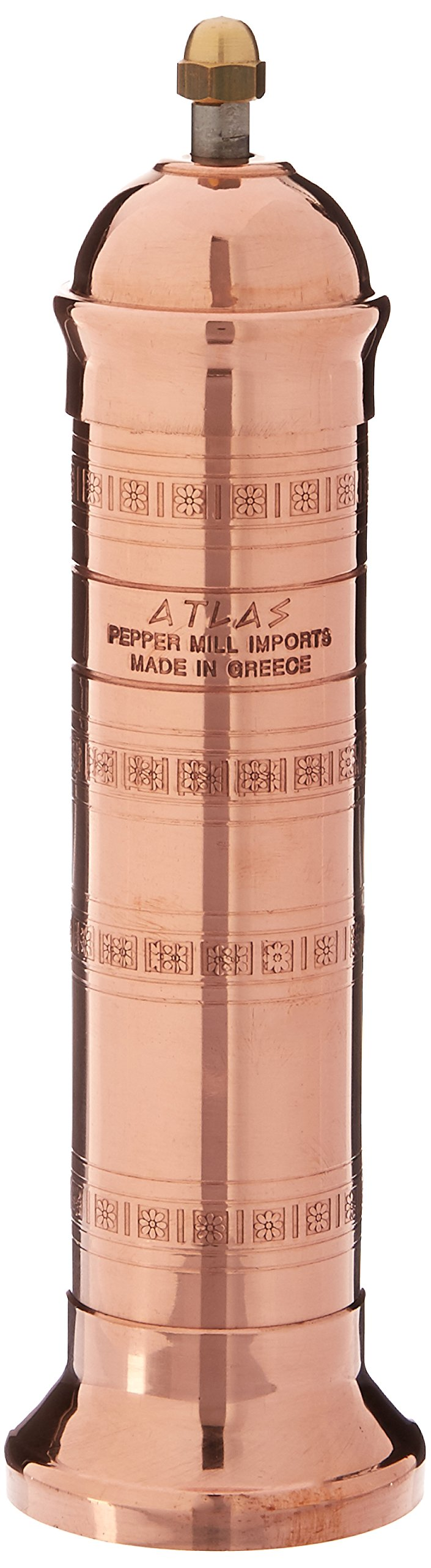 Pepper Mill Imports Atlas Salt Mill, Copper, 8'' by Pepper Mill Imports