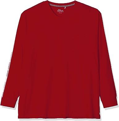 S.Oliver Big Size 15.909.31.6986 Camisa Manga Larga, Rojo (Uniform Red 3660), XXXX-Large para Hombre: Amazon.es: Ropa y accesorios