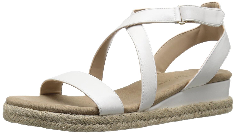 ADRIENNE VITTADINI Footwear Women's Charlie Wedge Sandal B01C9CHRBQ 5.5 B(M) US|White