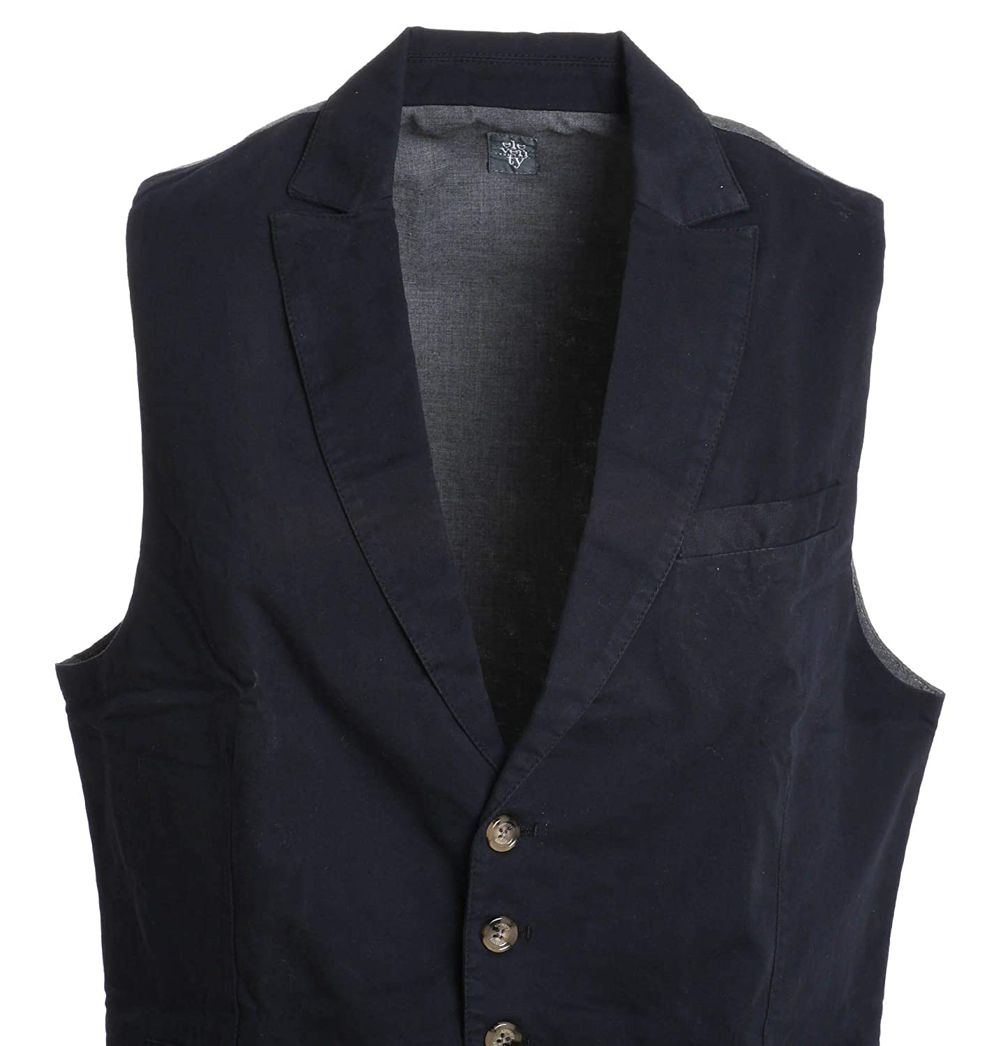 Eleventy Mens 979GL0023PAN2301211 Blue//Grey Cotton Vest