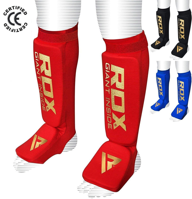 RDX MMA Shin Instep Foam Pad Support Boxing Leg Guards Foot Protective Gear Kickboxing RDXA8 #RDX