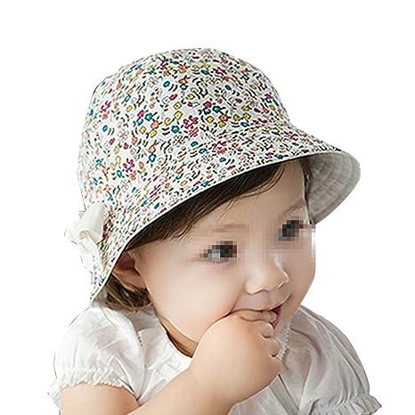fletion piccolo contenitori di neonati floreale cappello di Bambino  Primavera cappello bambino cappello da sole per fa0871a53a9f