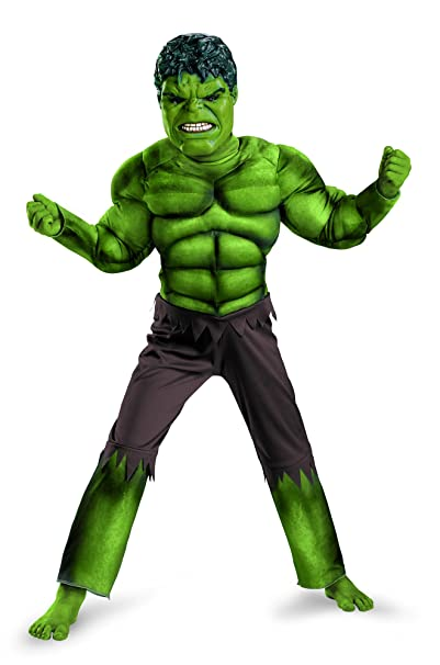 Avengers Hulk Classic Muscle Costume Green/Brown Large (10-12)  sc 1 st  Amazon.com & Amazon.com: Disguise Classic Hulk Avengers Muscle Costume for Kids ...