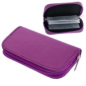 SODIAL(R)Portatil 22 ranuras Caja sostenedor bolso de tarjeta estuche de transporte de memoria SD SDHC MMC CF Micro-SD Protector bolsa de ...
