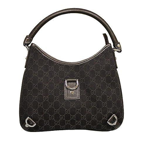d4cdeea905ae Gucci Brown Denim Abbey Hobo Bag Leather Handbag 268637: Amazon.ca: Shoes &  Handbags