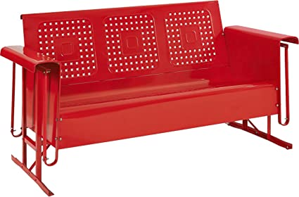 Amazon.com : Crosley Furniture Bates Sofa Glider - Red : Garden ...