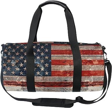 Travel Duffels Flag Design Duffle Bag Luggage Sports Gym for Women /& Men