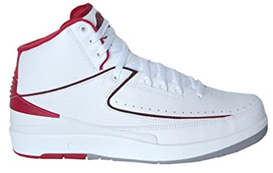 34db11c2c3b0 Image Unavailable. Image not available for. Color  Nike Mens Air Jordan 2  Retro  quot OG Colorway quot  Leather Basketball Shoes (9.5