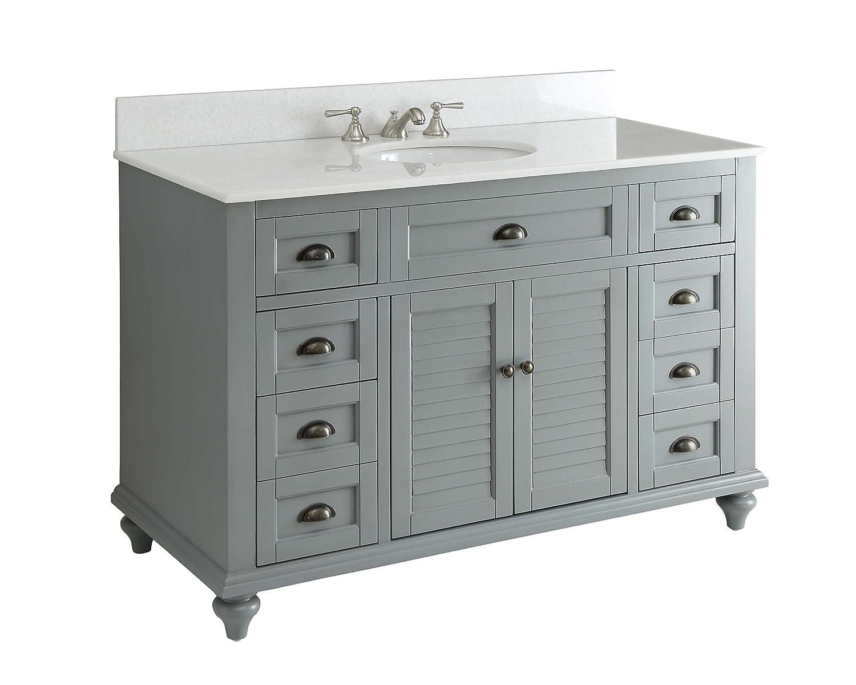 Glennville 49 Cottage Bathroom Vanity Cabinet Set in Grey GD28329CK