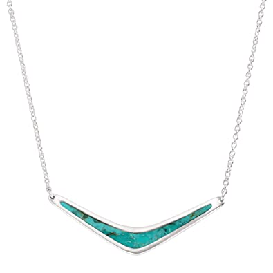 616a3b653 Amazon.com: Silpada 'Reversible Boomerang' Compressed Turquoise Necklace in Sterling  Silver: Jewelry