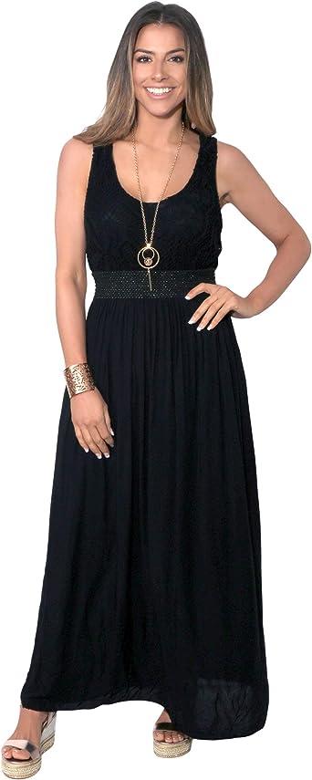 NEW WOMENS SOFT STRETCH VISCOSE STRIPE MAXI DRESS SUMMER DRESS 8 10 12 14 16