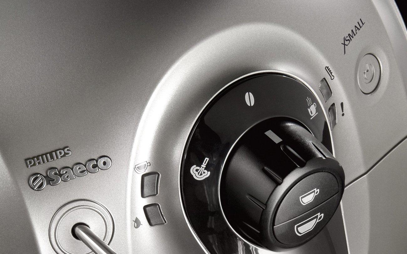 Saeco HD8745/57 Chrome Expresso Machine, X-Small, Silver
