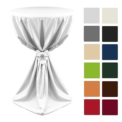 Beautissu Fodera per tavoli alti Giulia Ø60x145 cm - bianco ...