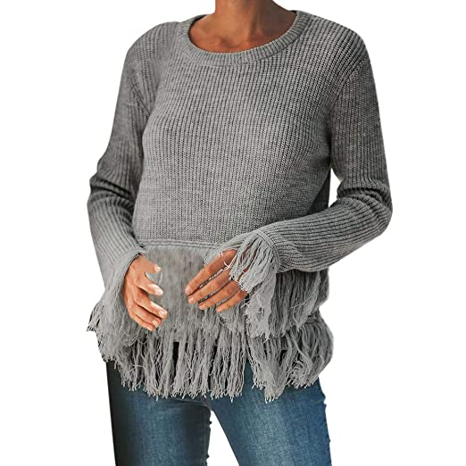 Yanvanwomens Sweater Off The Shoulder V Neck Knitted Loose Long