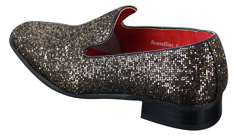 Para Hombre Marrón Negro Formal Smart Slip On Zapatos Con Textura De Cuero Pu De Diseño Italiano