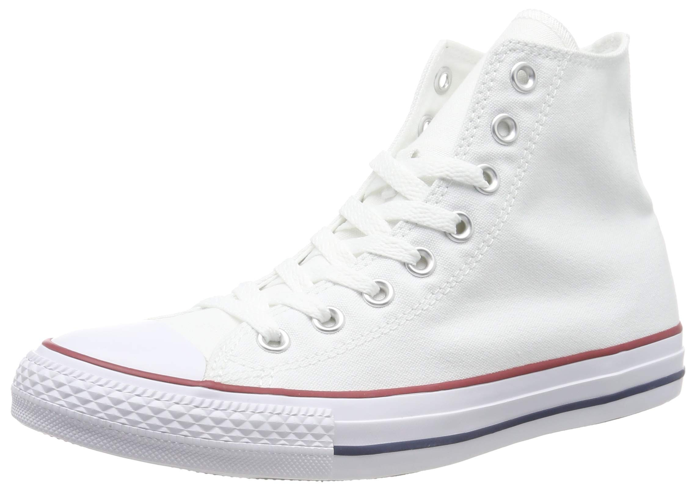 Chuck Taylor All Star Canvas High Top, Optical White, 7.5 by Converse