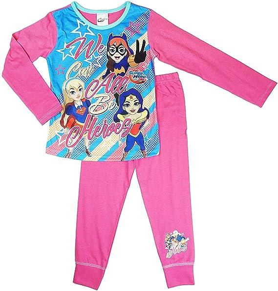 Pijama para niñas de DC Superhéroe Catgirl We Can Be Heroes Supergirl Tallas de 4 a 10 años