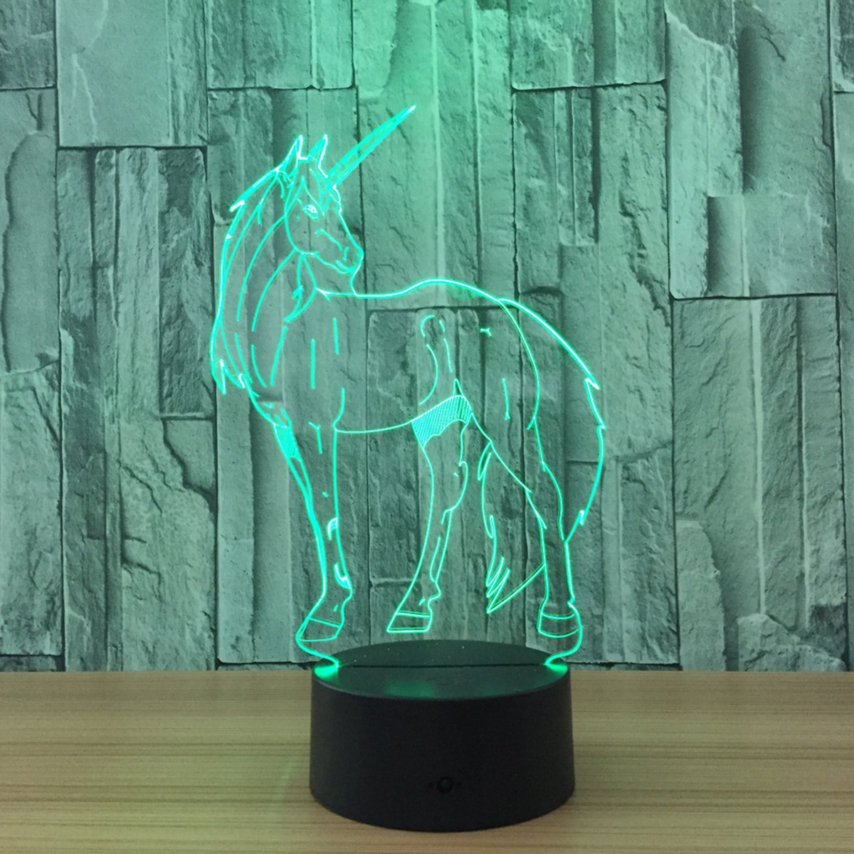 Novelty Unicorn 3D Illusion Lamp Led Night Light with 7 Colors Flashing & Touch Switch USB Powered Bedroom Desk Lamp for Kids Gifts Home Decoration by Atglus (Image #4)