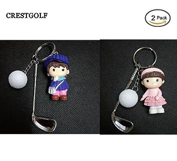 Crestgolf Llavero de muñeca, 2 Paquetes, 4 Colores a Elegir ...