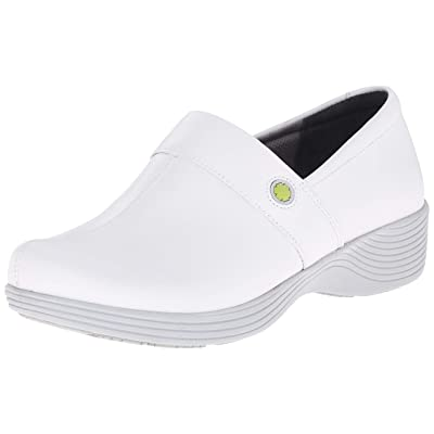 Amazon.com | Dansko Women's Camellia Clog, White Leather, 36 Medium EU (5.5-6 US) | Mules & Clogs