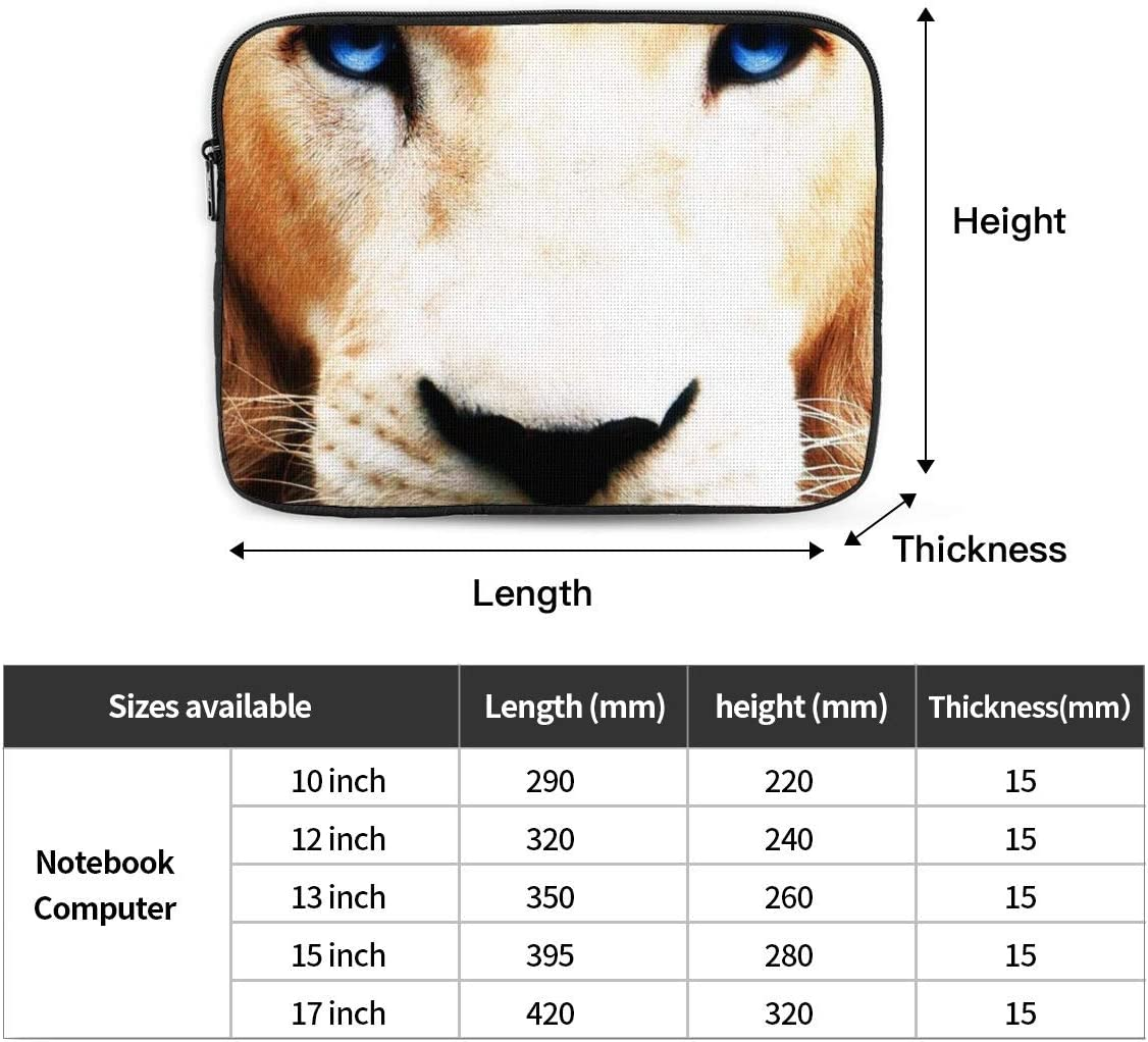 White Lion Laptop Sleeve Compatible with 10-17 Inch Water Repellent Case with Pockets
