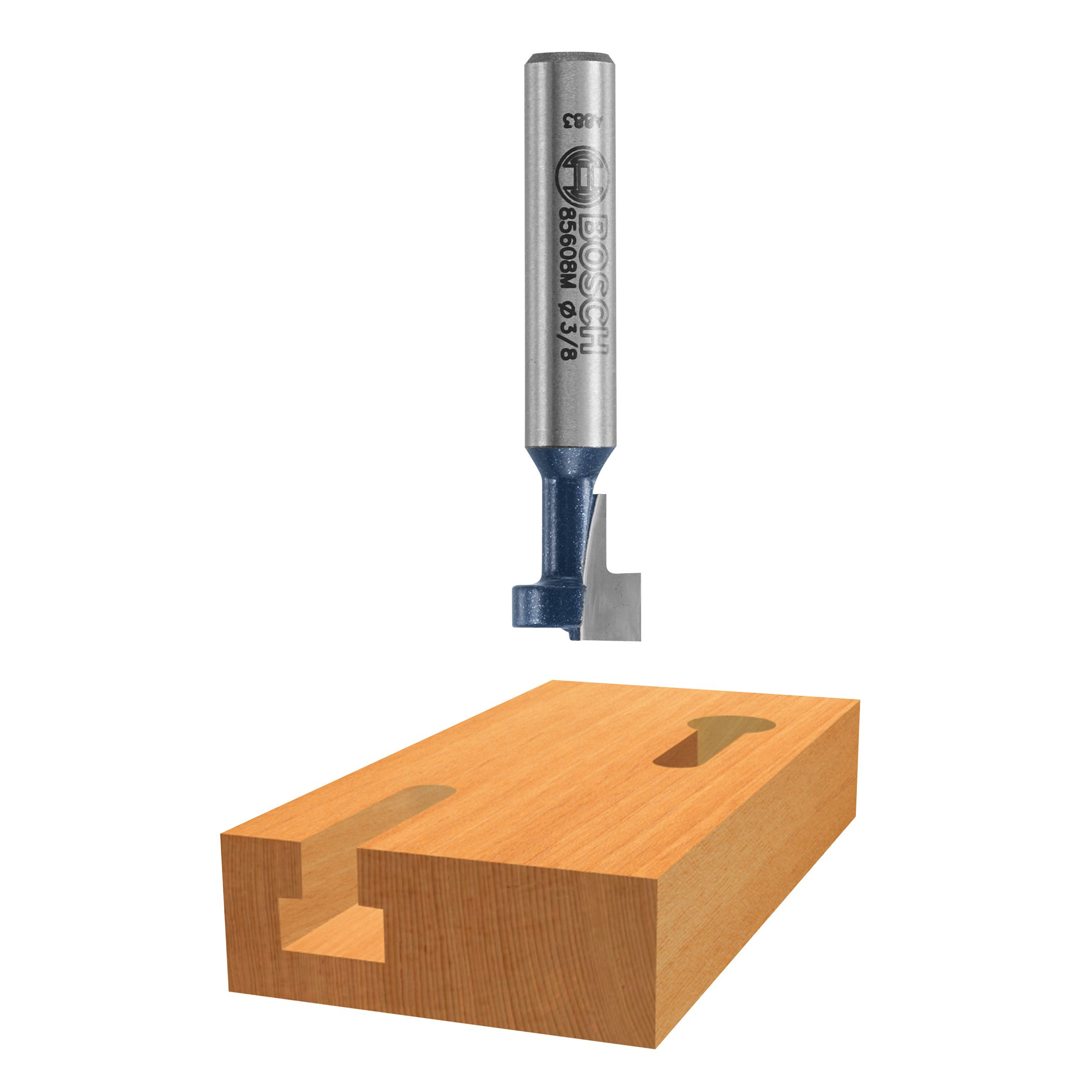 Bosch 85078 3/8 In. High Speed Steel Carbide-Tipped Keyhole Bit