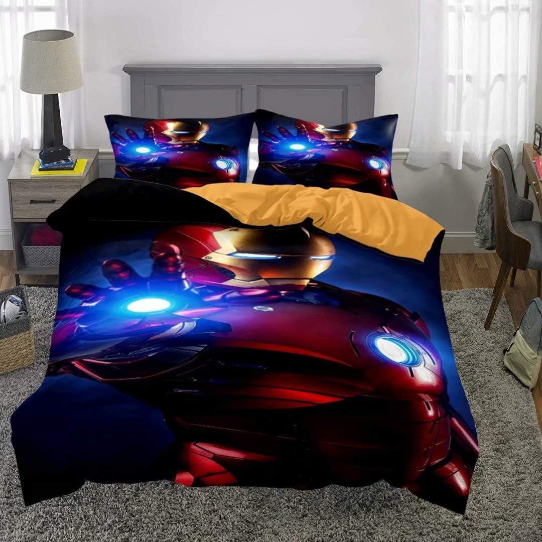 Siyarar Teens Marvel Duvet Cover Set for Boys Venom Bedding Set Bed 3pcs Full Size T11