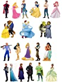 20 Stand Up Mixed Prince and Princesses Edible Premium Wafer Paper Cake Toppers -