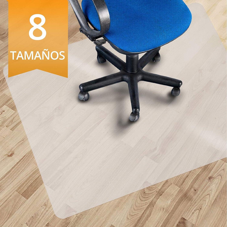 OfficeMarshal Alfombrilla Protectora - Estera para Silla de Oficina | Protector Suelo Semi-Transparente | Polipropileno | Varios tamaños (90x120 cm)