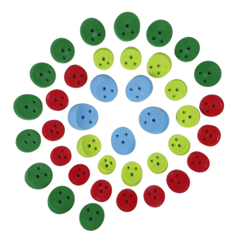 39個パック BFF (ねじ込み式) | クライミングホールド | 明るい色詰め合わせ   B07D6VTRGL