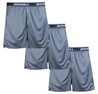 a955884ccd75 Russell Athletic Men's Big & Tall Performance Tagless Boxer Underwear  Shorts (3 Pack) Charcoal