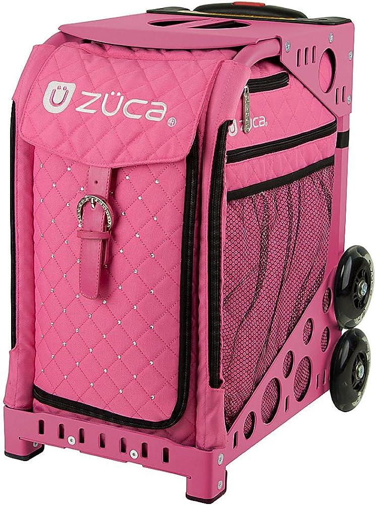 ZUCA Bag Pink Hot Insert Pink Frame w Flashing Wheels
