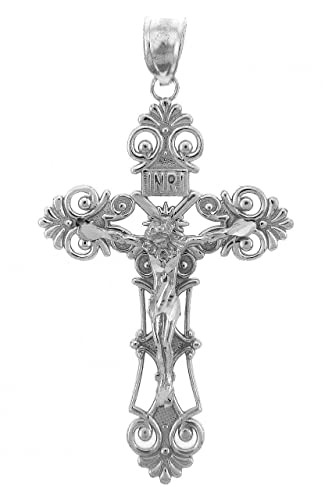 Amazon sterling silver inri crucifix pendant jewelry sterling silver inri crucifix pendant aloadofball Images